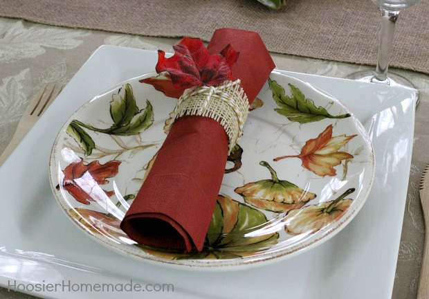 Thanksgiving Tablescape | HoosierHomemade.com