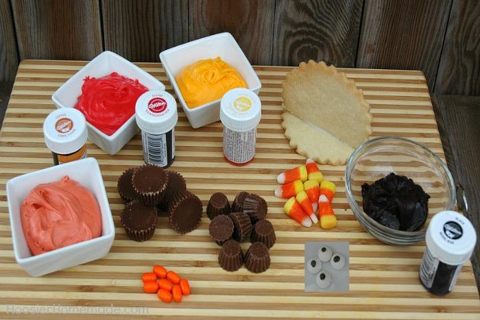 Ingredients to make Thanksgiving Turkey Cookies