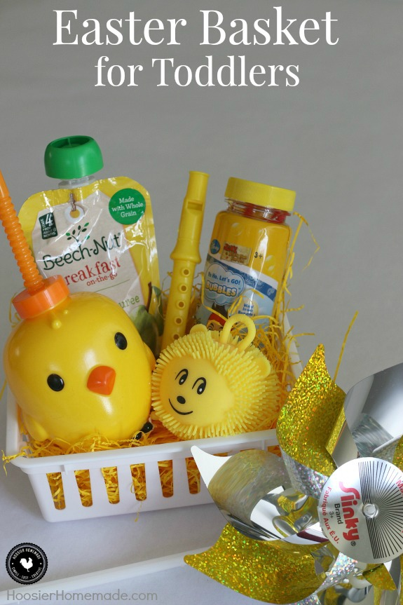 Easter basket ideas for children hoosier homemade fill a small themed easter basket for toddlers perfect for friends babysitters to give negle Choice Image