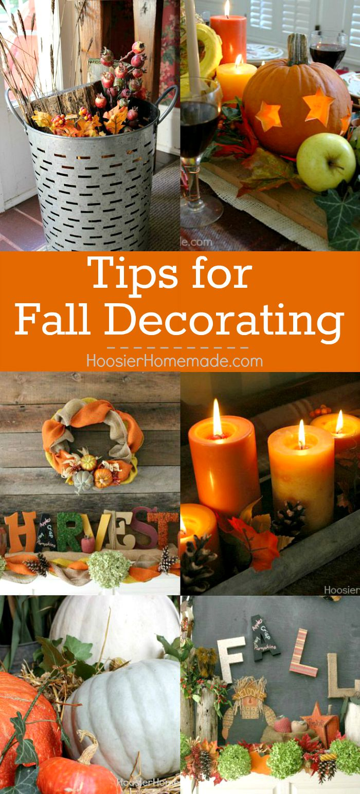 Decorate your home with these easy Tips for Fall Decorating! Bring in the warm colors of Fall - red, orange, yellow and more!