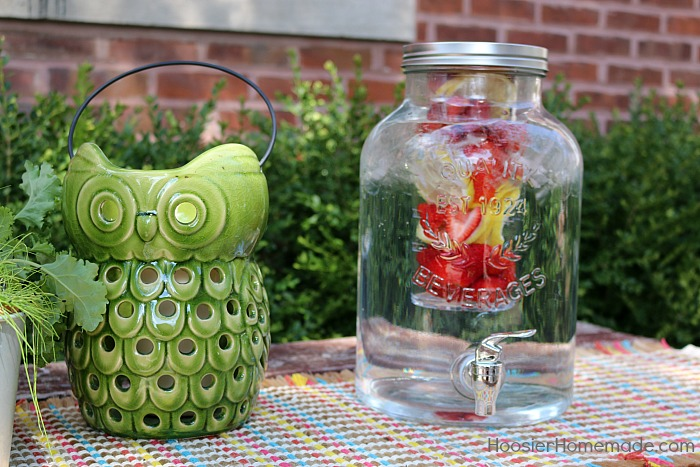 Drink dispenser with infused fruit