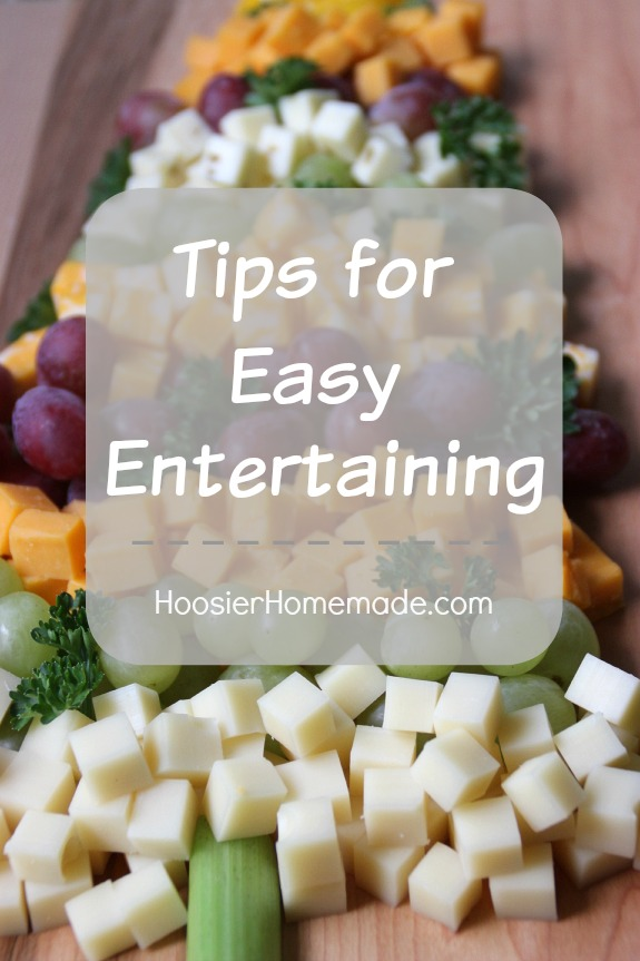 Use these 5 Tips for Easy Entertaining to save time, money and enjoy your party! Pin to your Holiday Board!