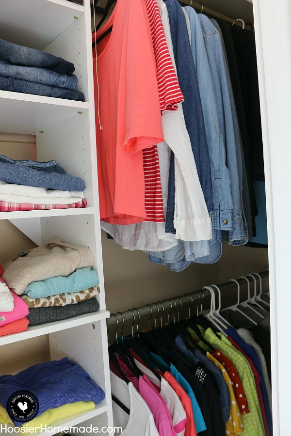 Is your closet a mess? Learn Tips on Organizing a Closet! From start to finish we take you through the steps you need. Be sure to save this by pinning to your Organizing Board!