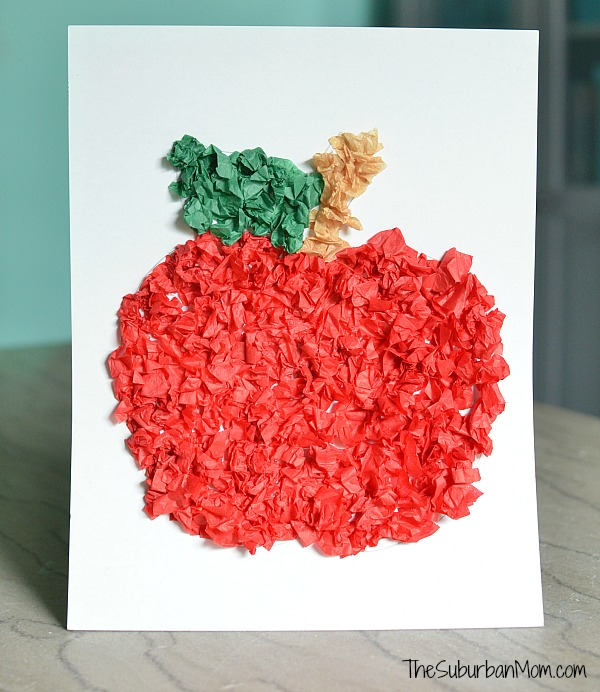 Tissue-Paper-Apple-Craft-For-Preschoolers