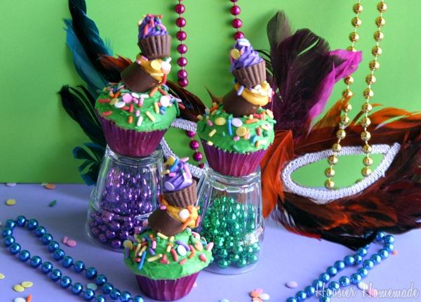 King Cake Jello Shot Recipe: King Cake Cupcakes And Mardi Gras Food
