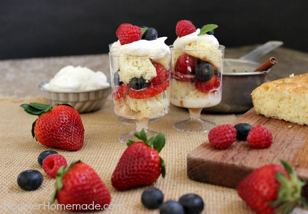 Tres Leches and Berry Parfaits :: Recipe on HoosierHomemade.com