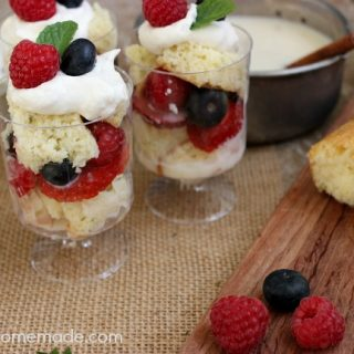 Tres Leches and Berry Parfaits