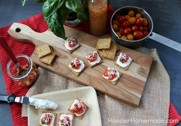 Simple Snacks: Fresh Italian Bruschetta :: Recipe on HoosierHomemade.com