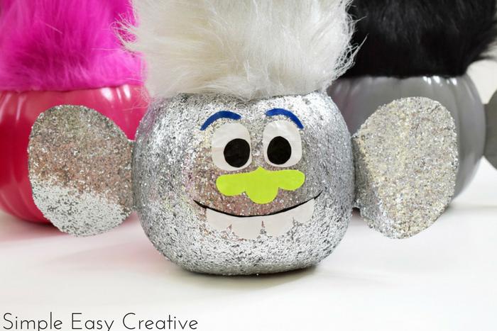 Trolls Pumpkins- a fun Halloween craft for kids of all ages!