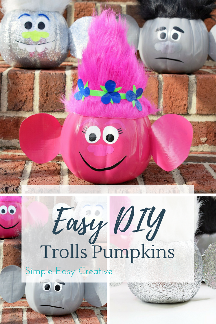 Troll Pumpkins- a fun Halloween craft for kids of all ages!
