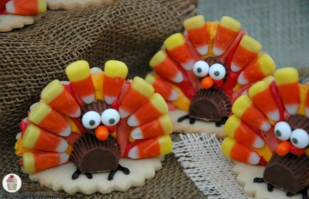 How to make Turkey Cookies! Recipe and Tutorial on HoosierHomemade.com