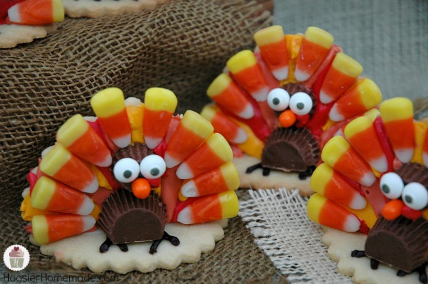 How to make Turkey Cookies! Recipe and Tutorial on HoosierHomemade.com
