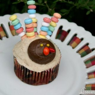Cute Turkey Cupcakes for Thanksgiving