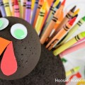 Thanksgiving Kids Craft | Instructions for this adorable Turkey on HoosierHomemade.com
