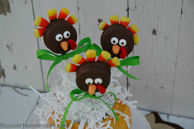 OREO Turkey Pops Recipe & Instructions on HoosierHomemade.com
