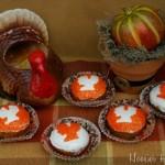 Turkey Stencil Cupcakes - November 2011