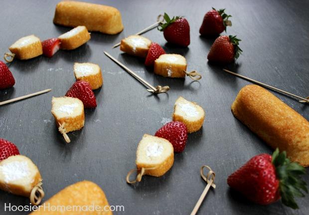 Twinkie Strawberry Shortcake Bites :: HoosierHomemade.com