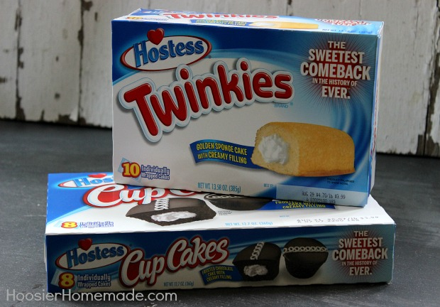 Twinkies and Hostess Cupcakes