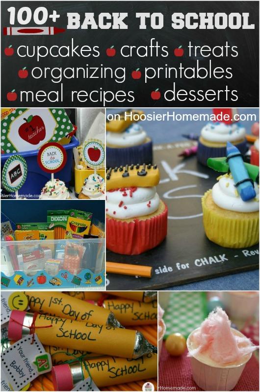 100+ Back to School Ideas on HoosierHomemade.com