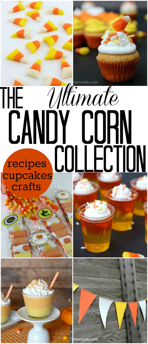CANDY CORN COLLECTION -- RECIPES, CUPCAKES + CRAFTS