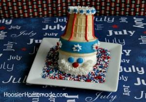 Uncle Sam Cupcakes on HoosierHomemade.com