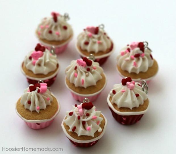 Valentine Cupcake Charms