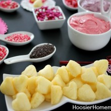 Valentine's Day Cupcake Fondue :: Recipes on HoosierHomemade.com