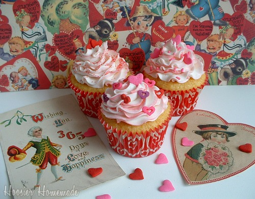 Easy Valentine Cupcakes Cupcake Tuesday Hoosier Homemade