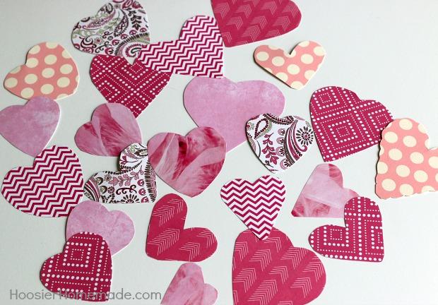Scrapbook Paper Hearts