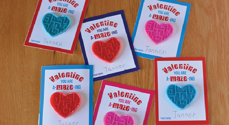 Valentine's Day Cards to Print - these fun printable cards are perfect for Valentine's Day Classroom Parties! You are A-MAZE-ing!