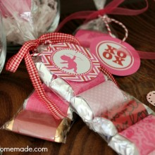 Valentine Treat Bags :: Instructions on HoosierHomemade.com