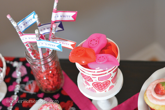 Valentine Party Favor Pencils and Whistles