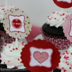 Valentine's Day Cupcakes & Toppers