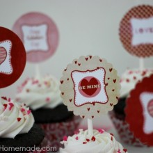 Valentine's Day Cupcake Toppers.HH.1