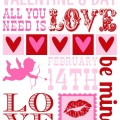 Free Printable Valentine's Day Subway Art Wall:: available on HoosierHomemade.com