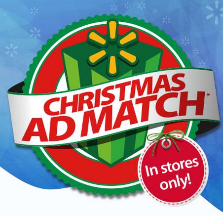 Christmas Ad Match at Walmart