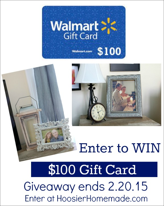 Enter to win a $100 Walmart Gift Card