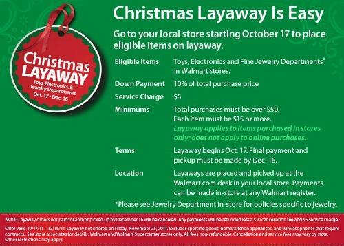 Walmart-Layaway