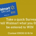 Walmart Gift Card Giveaway on HoosierHomemade.com