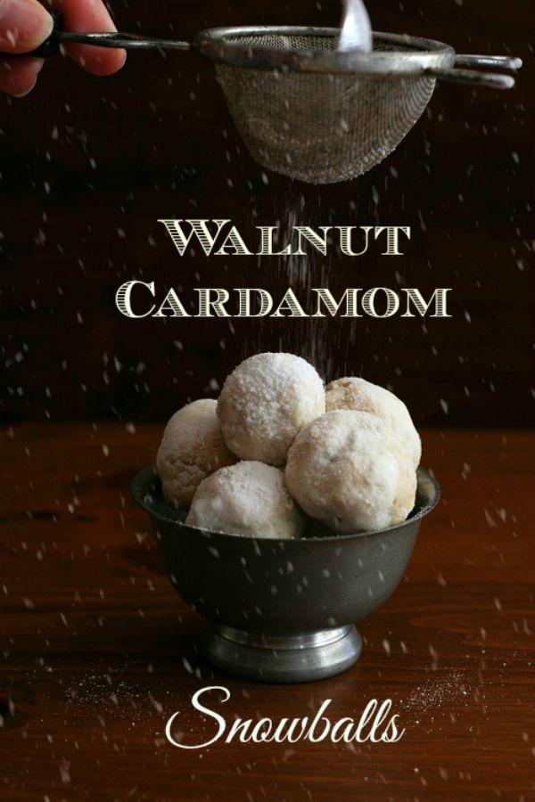 Perfect for your Holiday Baking! These Walnut Cardamom Snowballs (or you might call them Russian Tea Cakes or Mexican Cakes) are tender, sweet and low carb. Visit our 100 Days of Homemade Holiday Inspiration for more recipes, decorating ideas, crafts, homemade gift ideas and much more!