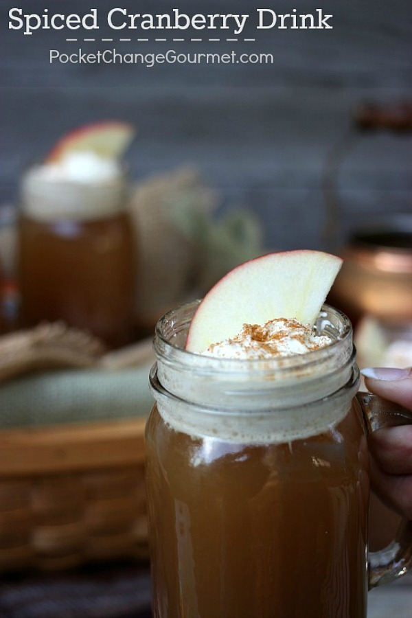 A perfect drink to serve during the Holidays! Apple Cider, Cranberry Sauce and Pineapple Juice plus seasonings made this delicious drink a hit! Visit our 100 Days of Homemade Holiday Inspiration for more recipes, decorating ideas, crafts, homemade gift ideas and much more!