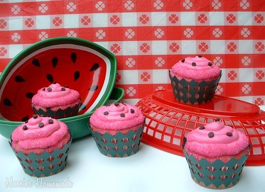 Watermelon Jelly Cake Recipe: Watermelon Cupcakes: Cupcake Tuesday