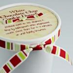 White Chocolate Chip Cookie Dough :: 100 Days of Homemade Holiday Inspiration on HoosierHomemade.com