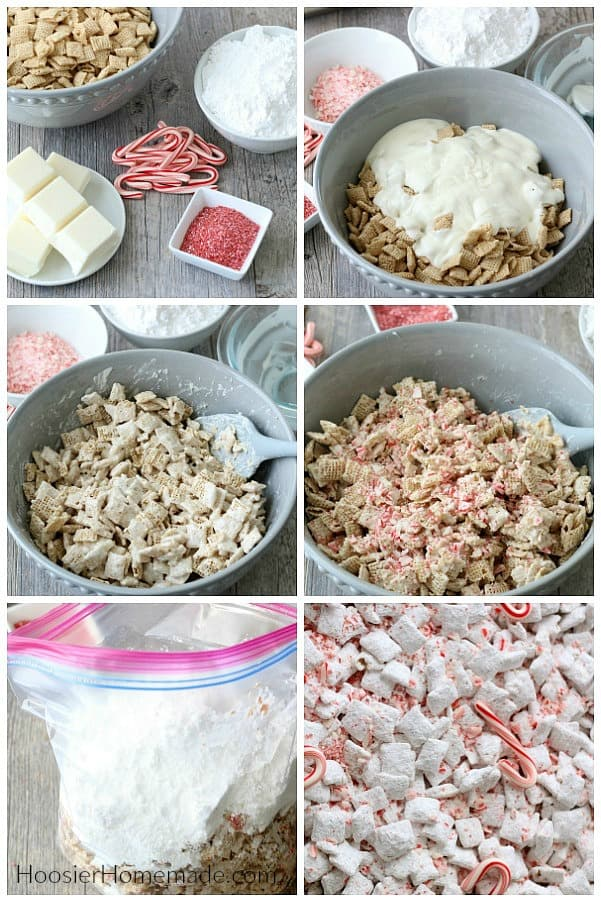 How to make White Chocolate Peppermint Chex Mix