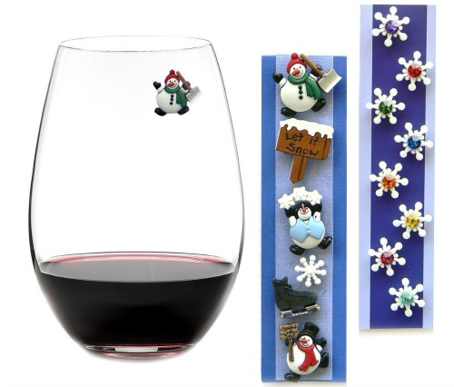 Wine Glass Charms - magnetic