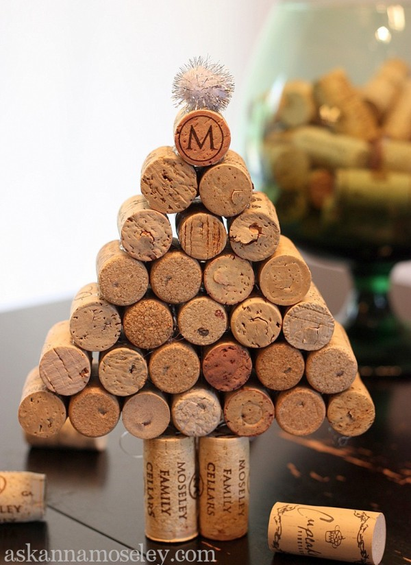 Wine Cork Christmas Tree.Wine Cork Christmas Tree 100 Days Of Homemade Holiday