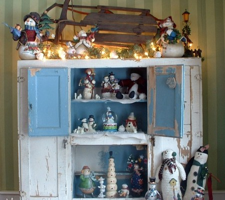 Winter Hoosier Cabinet