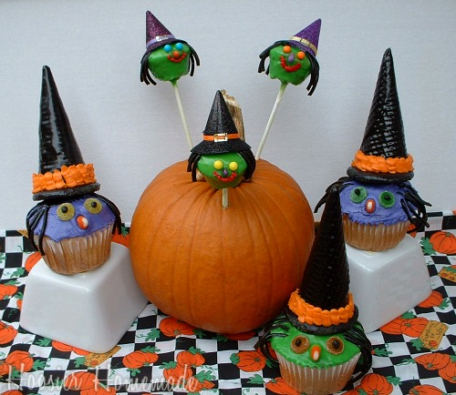 Mini Witch Cupcake Pops
