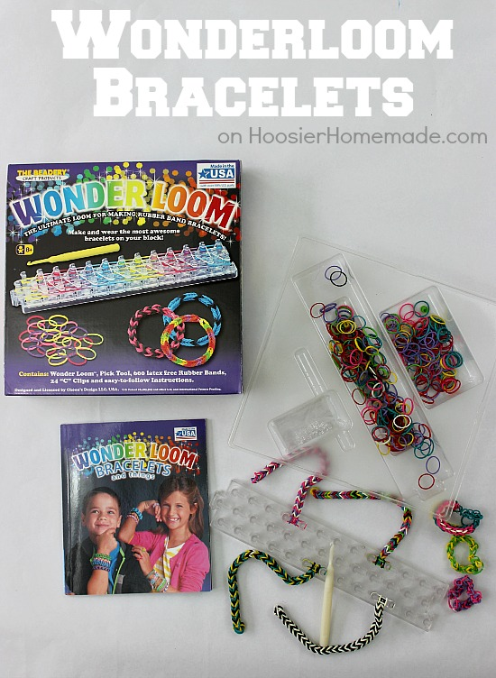 Wonderloom Rubber Band Bracelets | Instructions on HoosierHomemade.com