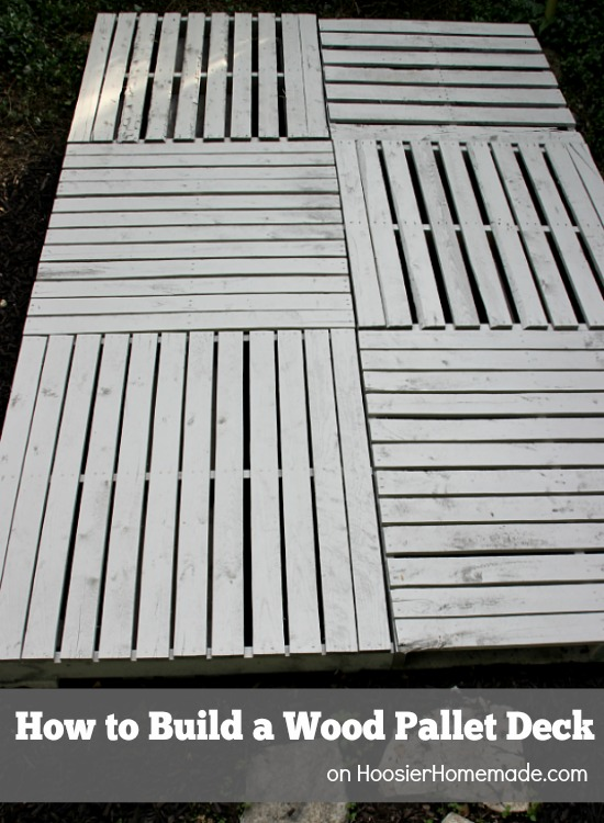 How To Build A Wood Pallet Deck Hoosier Homemade